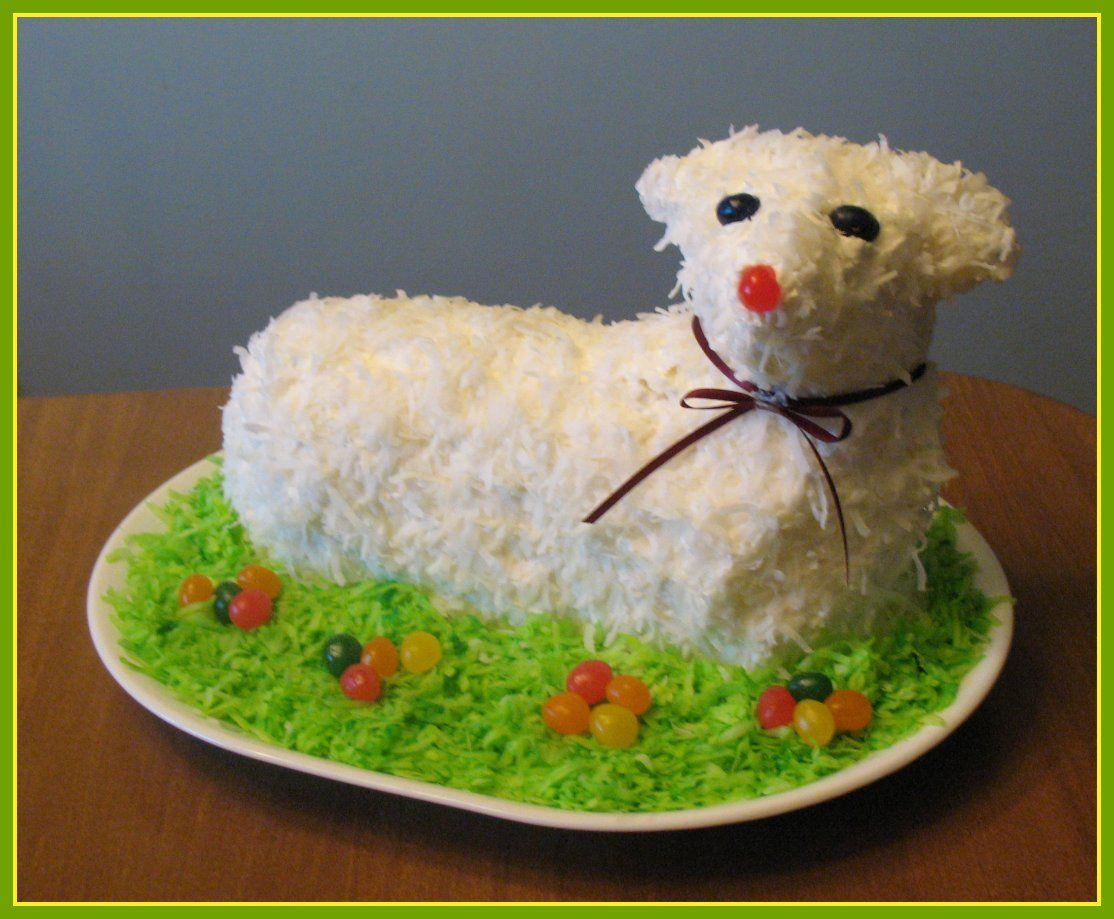 Easter lamb cake just like my grandma always made i do