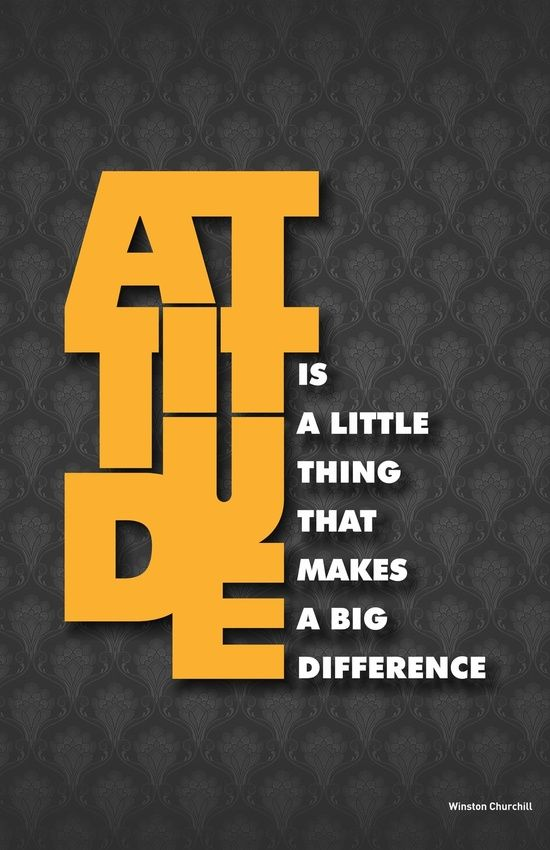 Attitude I A Little Thing Winston Churchill Inspirational Typography Quote Art Print By Lab No In 2020 Poster Typographic Shawshank Redemption Essay Hope