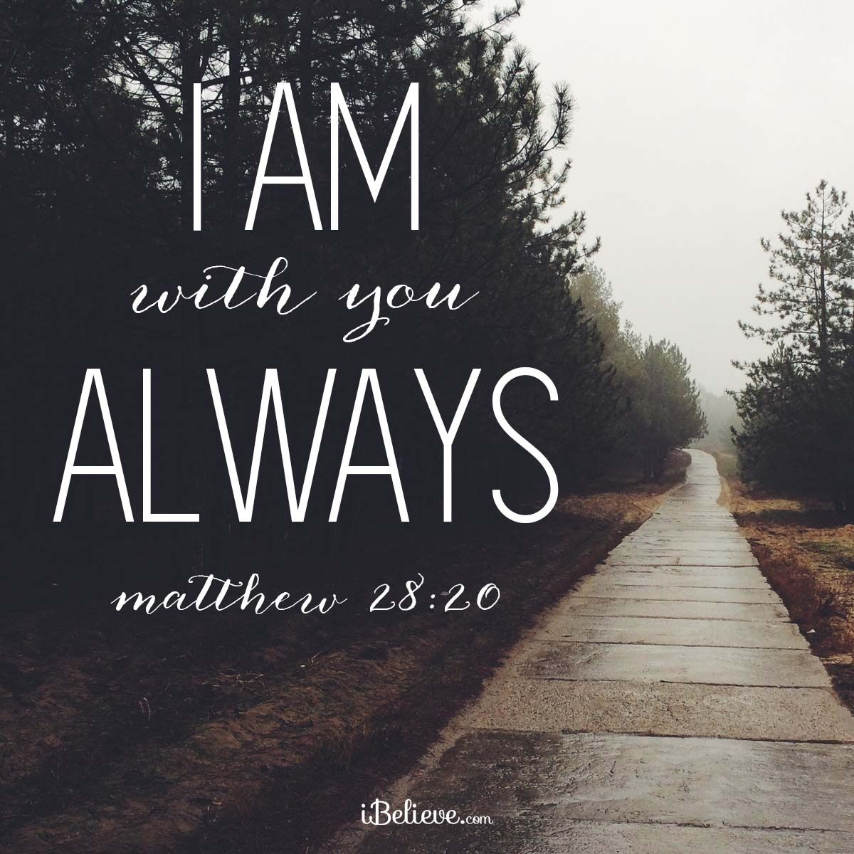 I Am With You Always Ibelievecom Inspirations Faithquotes