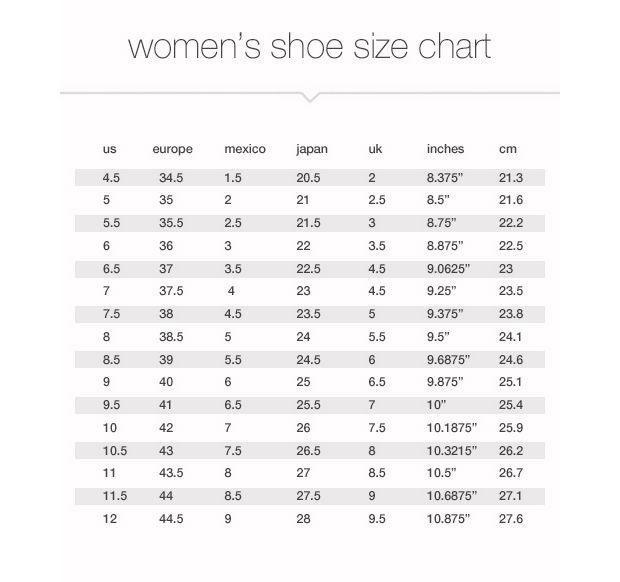 To female shoe size comparison chart xtratuf boot conversion also bogasrdenstaging rh