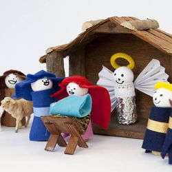 Make Your Own Nativity Scene Using Wine Corks And Fabric Ss In Swedish