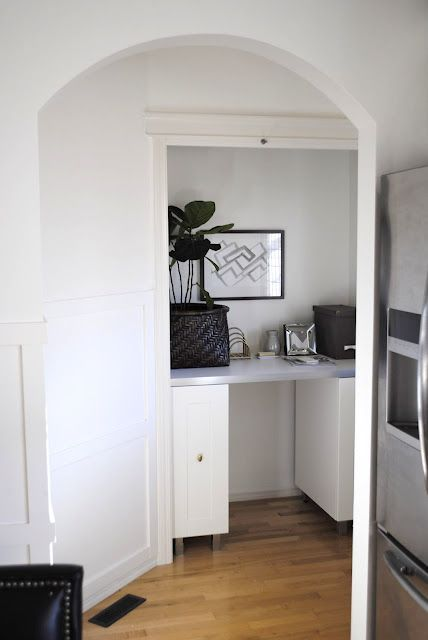 before + after, turning an unused closet into a workspace