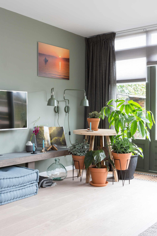 Groen interieur van fietje 2017 home interiors with for Huis in richten