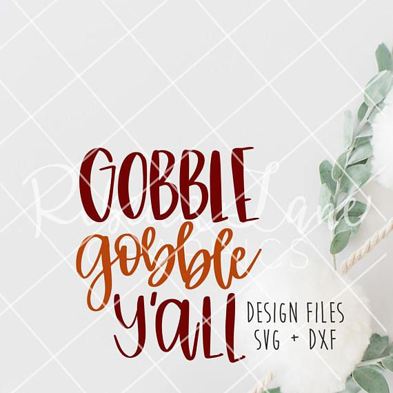 Hand Lettered Gobble Gobble Y All Calligraphy Clip Art Hand Lettering Clip Art Calligraphy Design