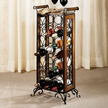 Milan Metal And Wood Wine Rack On Sale Now 189 00 Touchofclass