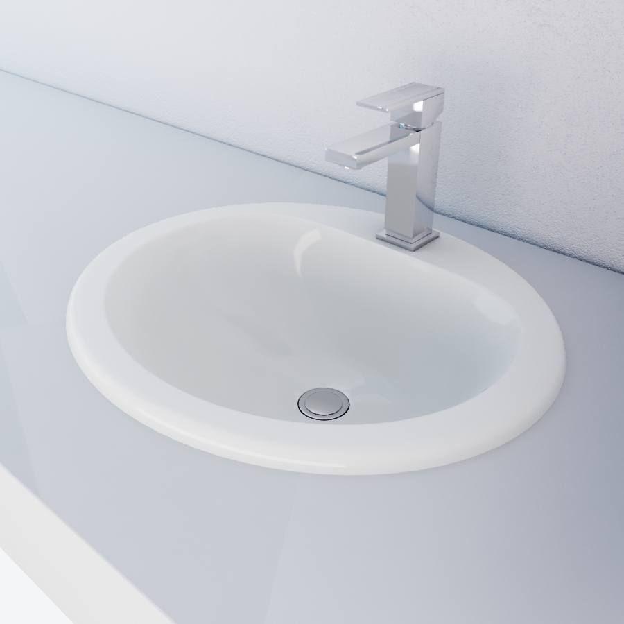 Wonderful Bathroom Sinks Dallas Part - 5: Cantrio Vitreous China Top Mount Sink