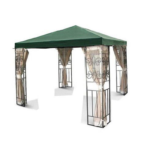 New Outdoor Patio Tivoli 10x10 Green Gazebo Replacement Canopy Top G416 By Sunjoy 49 95 Replacement Canopy On Gazebo Replacement Canopy Gazebo Canopy Gazebo