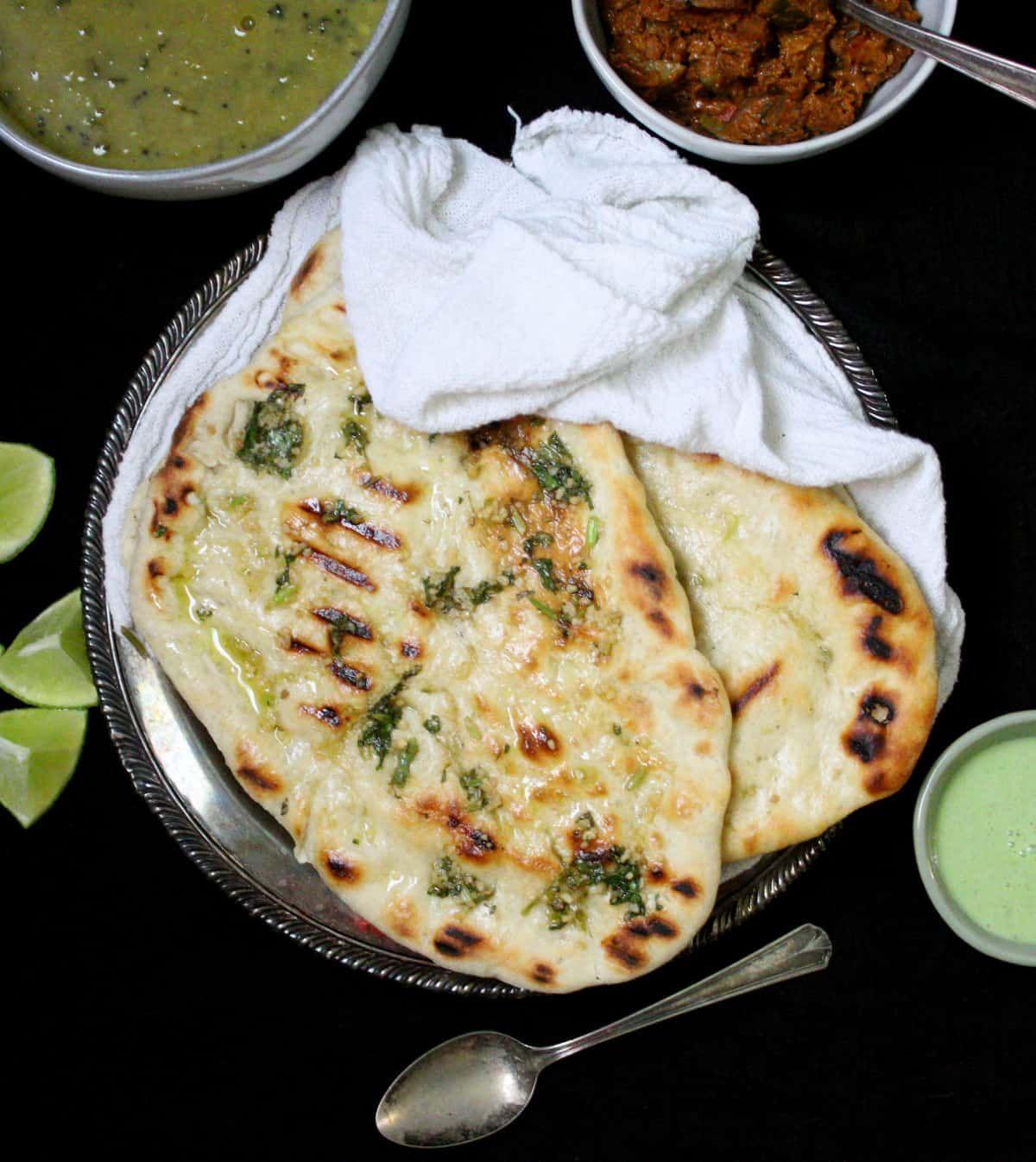 Easy Vegan Grilled Naan Recipe In 2020 Vegan Grilling Vegan Indian Recipes Tasty Bread Recipe