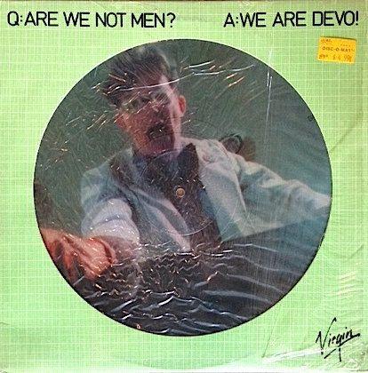 Vintage Vinyl Devo Picture Disc Are We Not Men We Are Devo 1978 Are We Not Men Vinyl Men