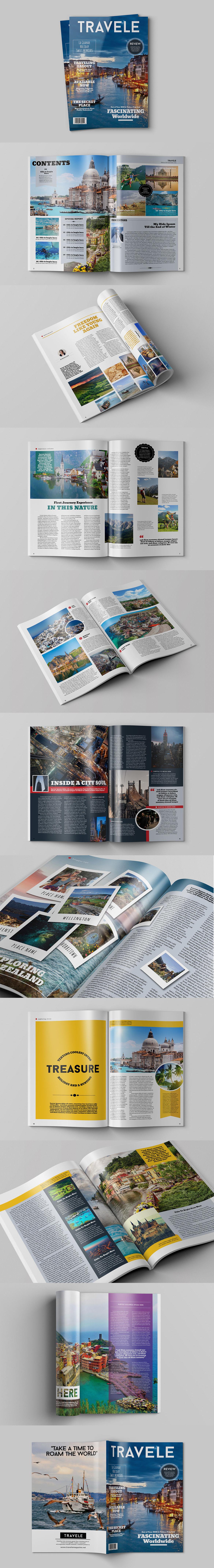 Traveling Magazine Template InDesign INDD | Best Magazine Templates ...