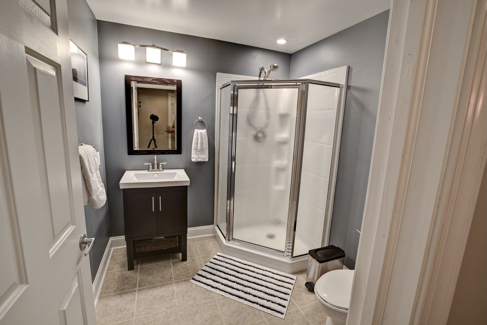 How Much Does It Cost To Add A Bathroom In The Basement Answered In 2020 Beige Bathroom Small Basement Bathroom Bathroom Remodel Tile