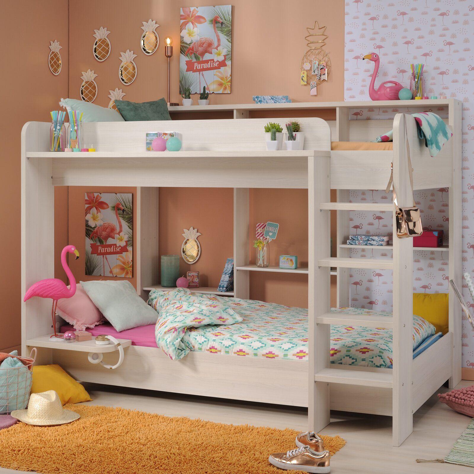 Harriet Bee Melody Twin Over Twin Bunk Bed Wayfair Loft Bed