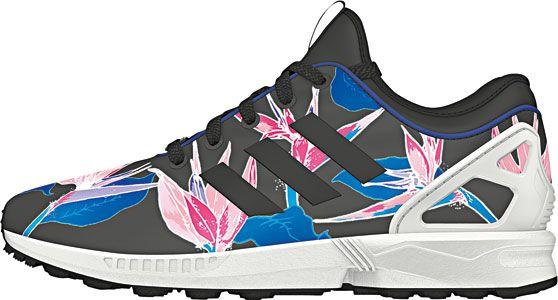 adidas zx flusso dei schoenen lavori stradali zwart roze blauw fatti per camminare
