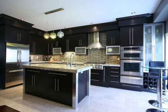 Cocinas Modernas en Color Negro cocinas Pinterest Cocina - cocinas grandes de lujo