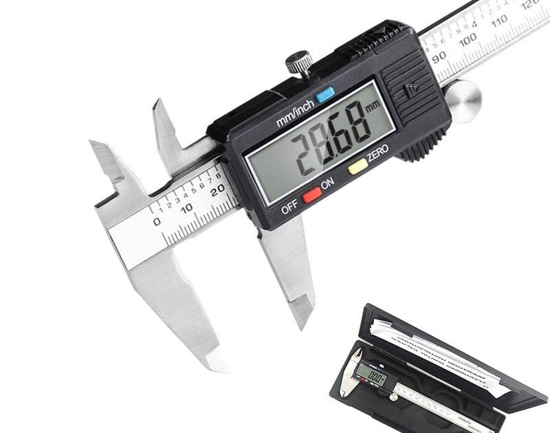 Stainless Steel Electronic Digital Vernier Caliper Gauge Micrometer 0-150mm