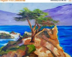 Image result for painting california cypress tree