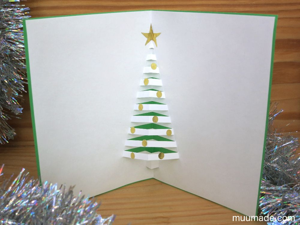 This Is A Free Tutorial On How To Make An Elegant Diy Pop Up Christmas Tree Card It Is Diy Christmas Cards Pop Up Pop Up Christmas Cards Christmas Card Crafts