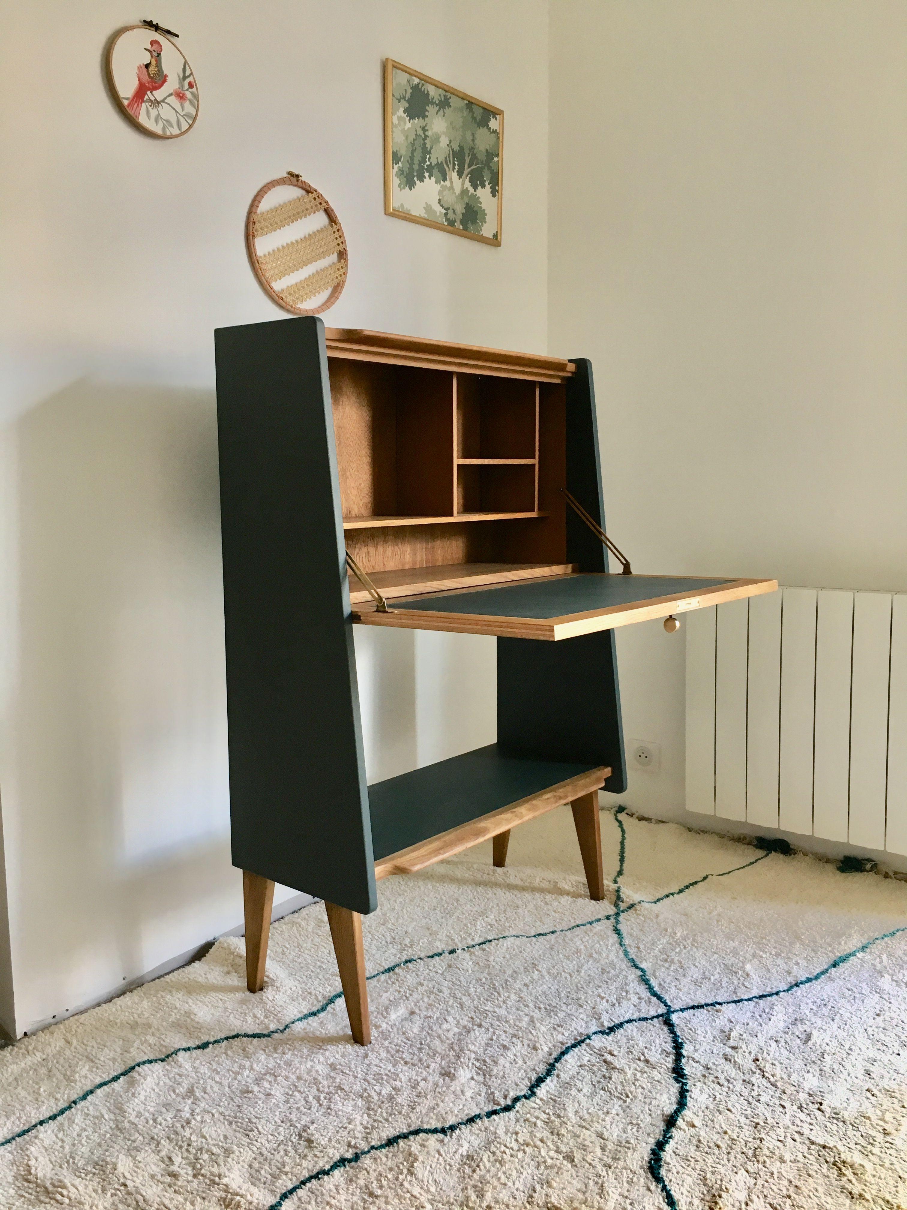 Secretaire Vintage Relooke Relooker Meuble Mobilier De Salon Relooking Meuble