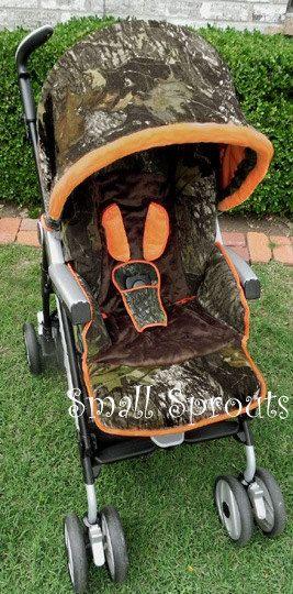 Camo Baby Mossy Oak Breakup Orange Minky Brown By Smallsproutsbaby