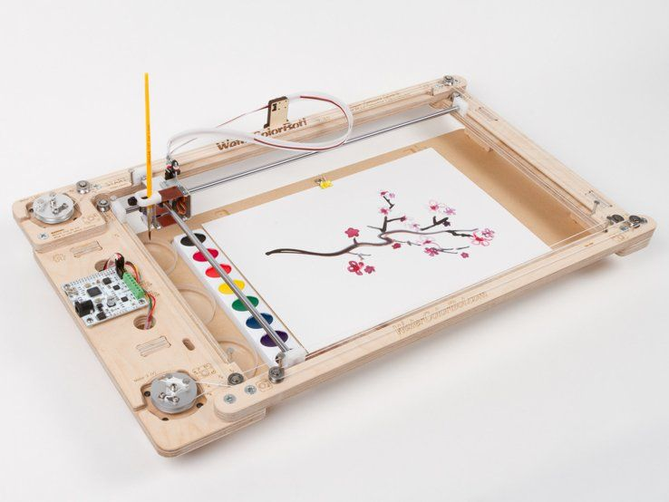 Watercolorbot Paint By Robot Electronics Projects Arduino Cnc