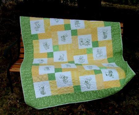 Advanced Embroidery Designs. Baby Animals Children Quilt. | Quilt ... : animal baby quilt patterns - Adamdwight.com