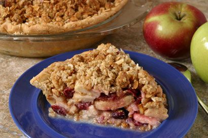 Cranberry Apple Almond Pie