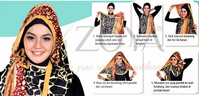 Tutorial Hijab Zoya dengan Gambar, Modis dan Fashionable