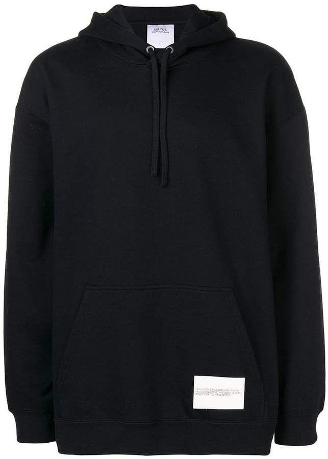 14e4096e635a7 Calvin Klein Jeans Est. 1978 logo patch drawstring hoodie in 2019 ...