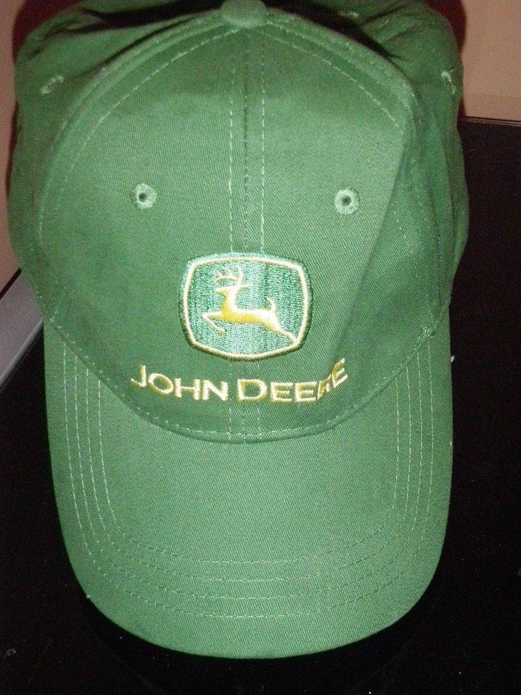 bfc0fe1e3b04b John Deere Tractor Baseball Cap Trucker Hat GREEN Adjustable Buckle Back   johndeere