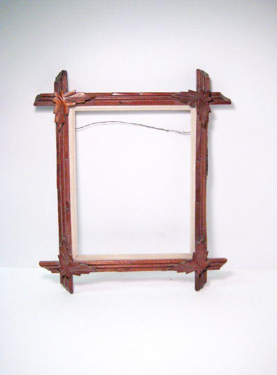 Antique Victorian Wood Picture Frame Eastlake Black Forest ...