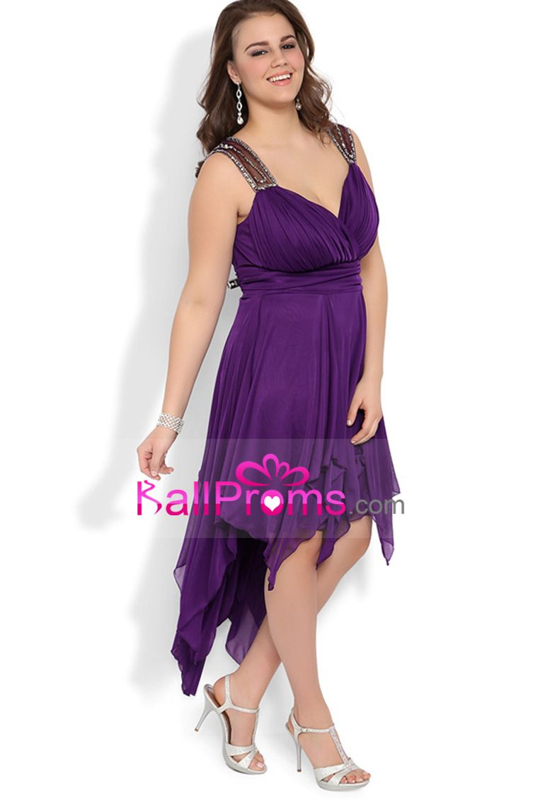 Plus size high low halter dress with illusion back and stone details