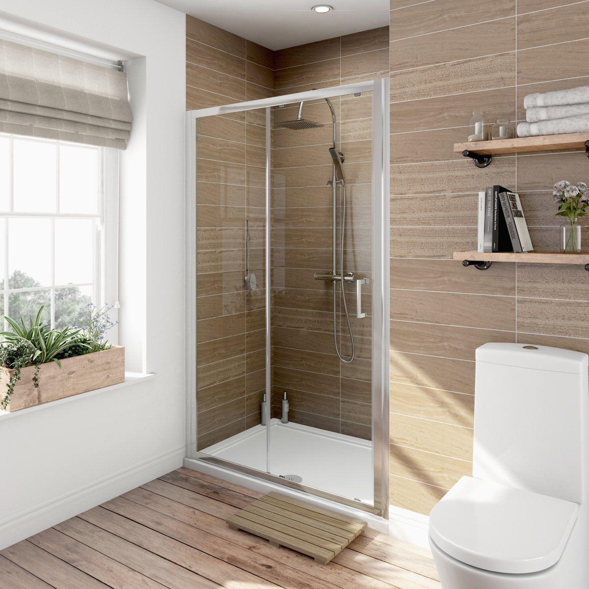 Orchard 6mm Sliding Shower Door In 2020 Shower Doors Frameless Sliding Shower Doors Shower Enclosure