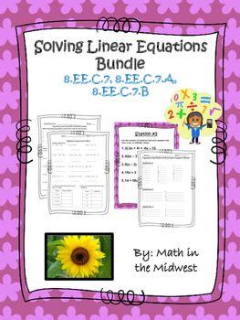 8.EE.C.7 Solving Linear Equations Bundle