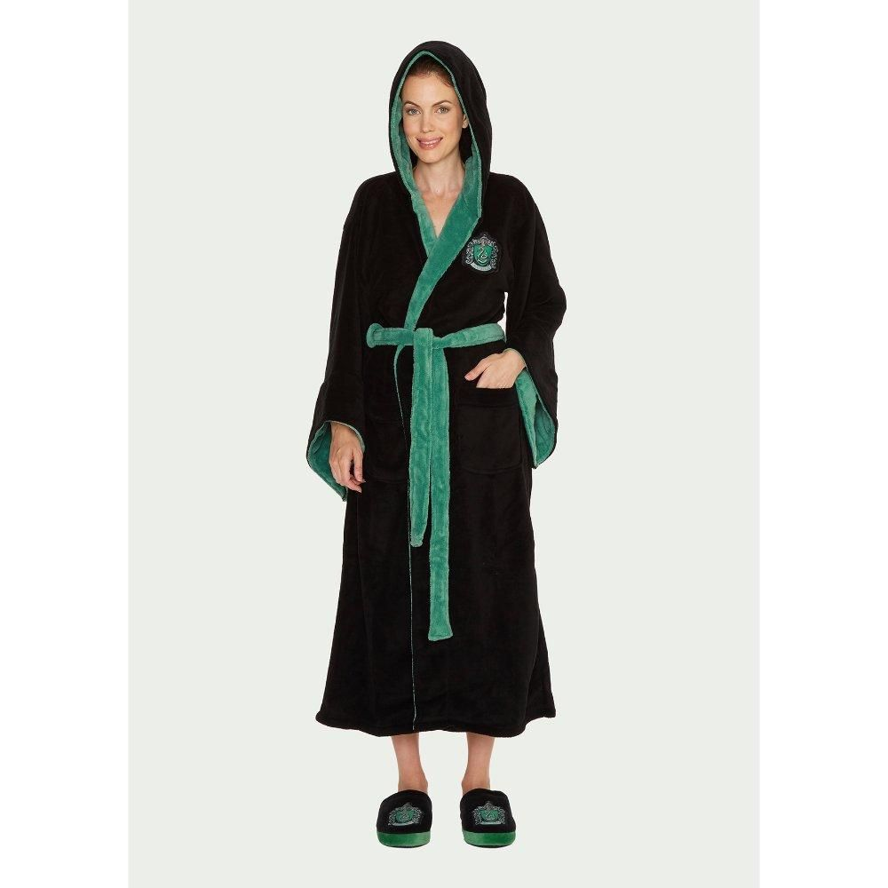 Official Harry Potter Slytherin Women\'s Dressing Gown / Bathrobe ...