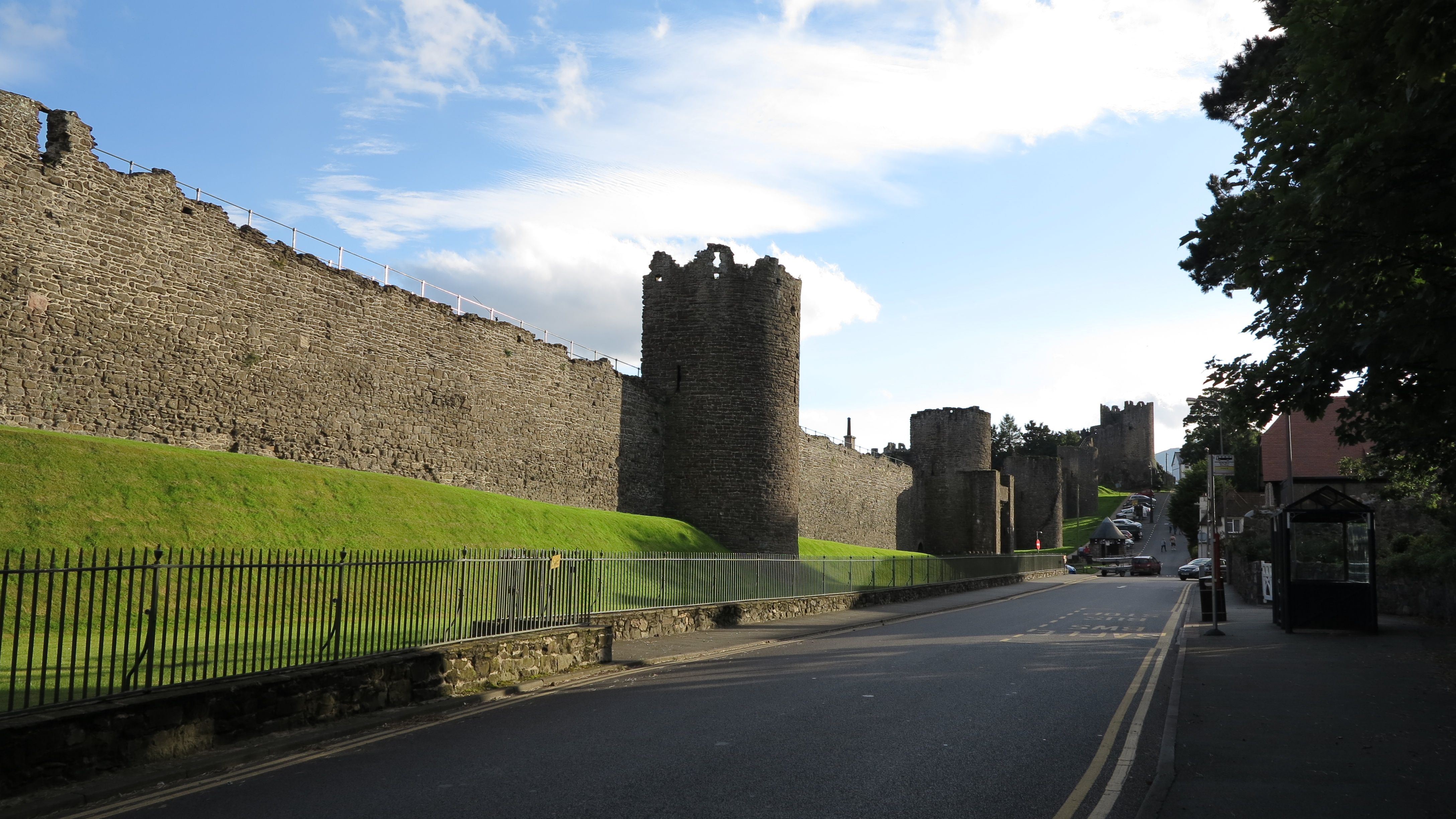The huge castle walls of Conwy in north Wales...