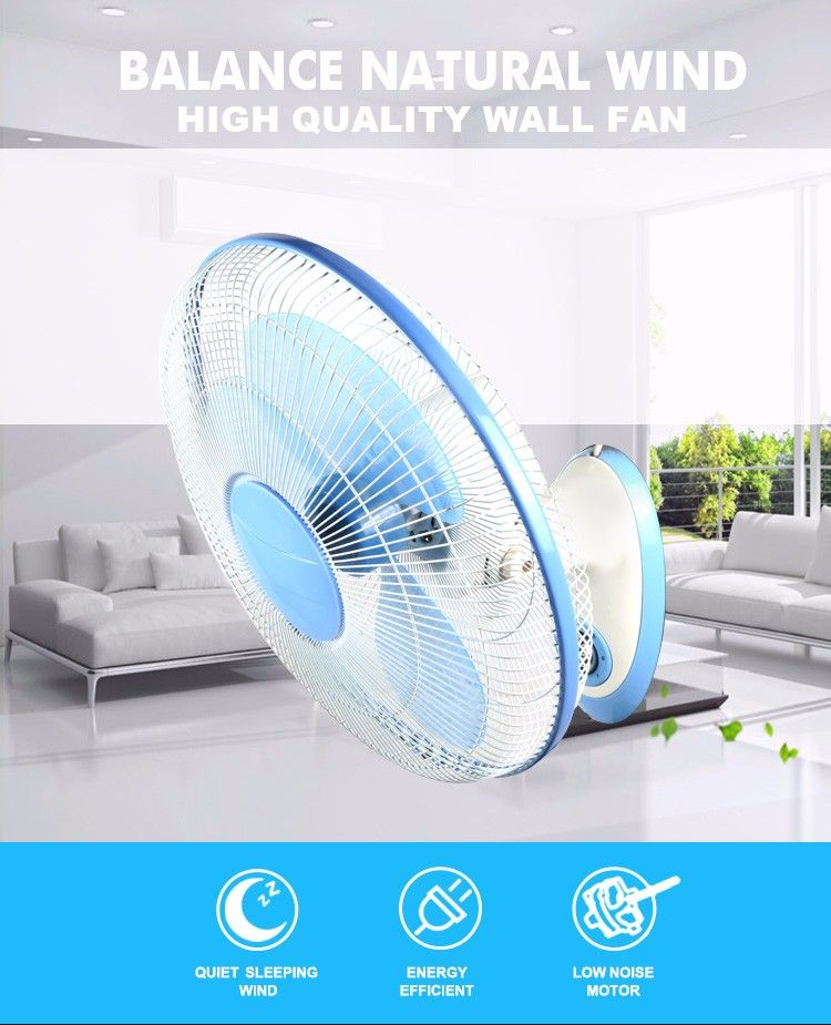 New 16 inch white wall mounted fans with low noise