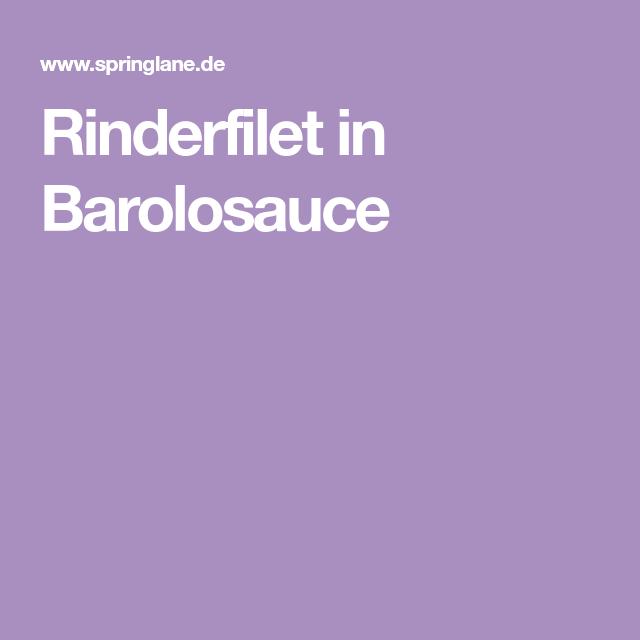 Rinderfilet in Barolosauce