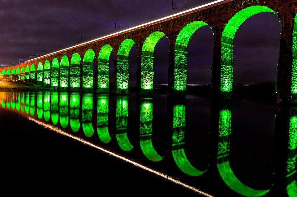 Royal Border Bridge spans the River Tweed between Berwick-upon-Tweed and Tweedmouth in Northumberland, England.