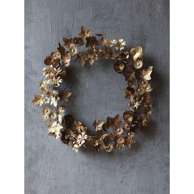 Creative Co-Op Chateau Round Metal Wreath