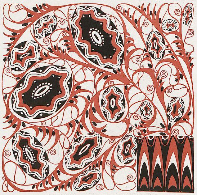 Decorative panel design by Emanuel Josef Margold, produced in 1910.
