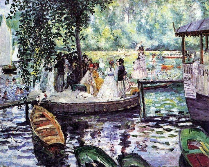 Renoir, La Grenouillere, 1869
