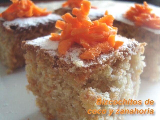 Bizcochitos de coco y zanahoria