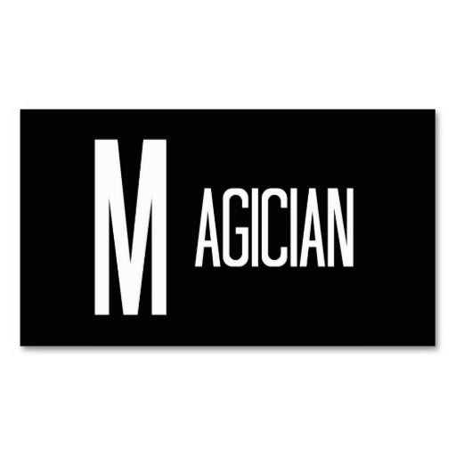 Magician Word Business Card | Business, Cards and Words