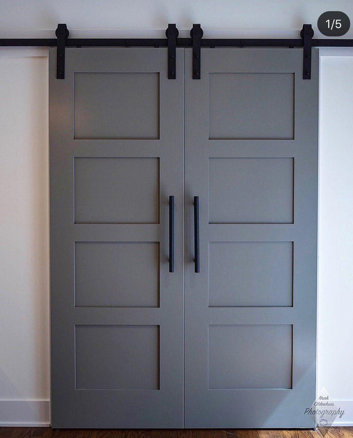 Custom Build Classic 4 Panel Sliding Barn Door Hinge Pocket Etsy Barn Door Hinges Barn Doors Sliding Diy Barn Door