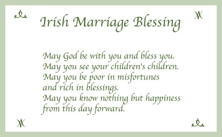 Love this Irish Blessing art for a wedding gift! Description from ...