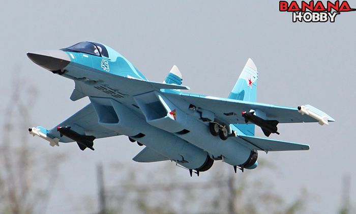 Blue Camo SU-34 RC EDF Jet ARF - Radio Controlled SU-34 RC Fighter - RC