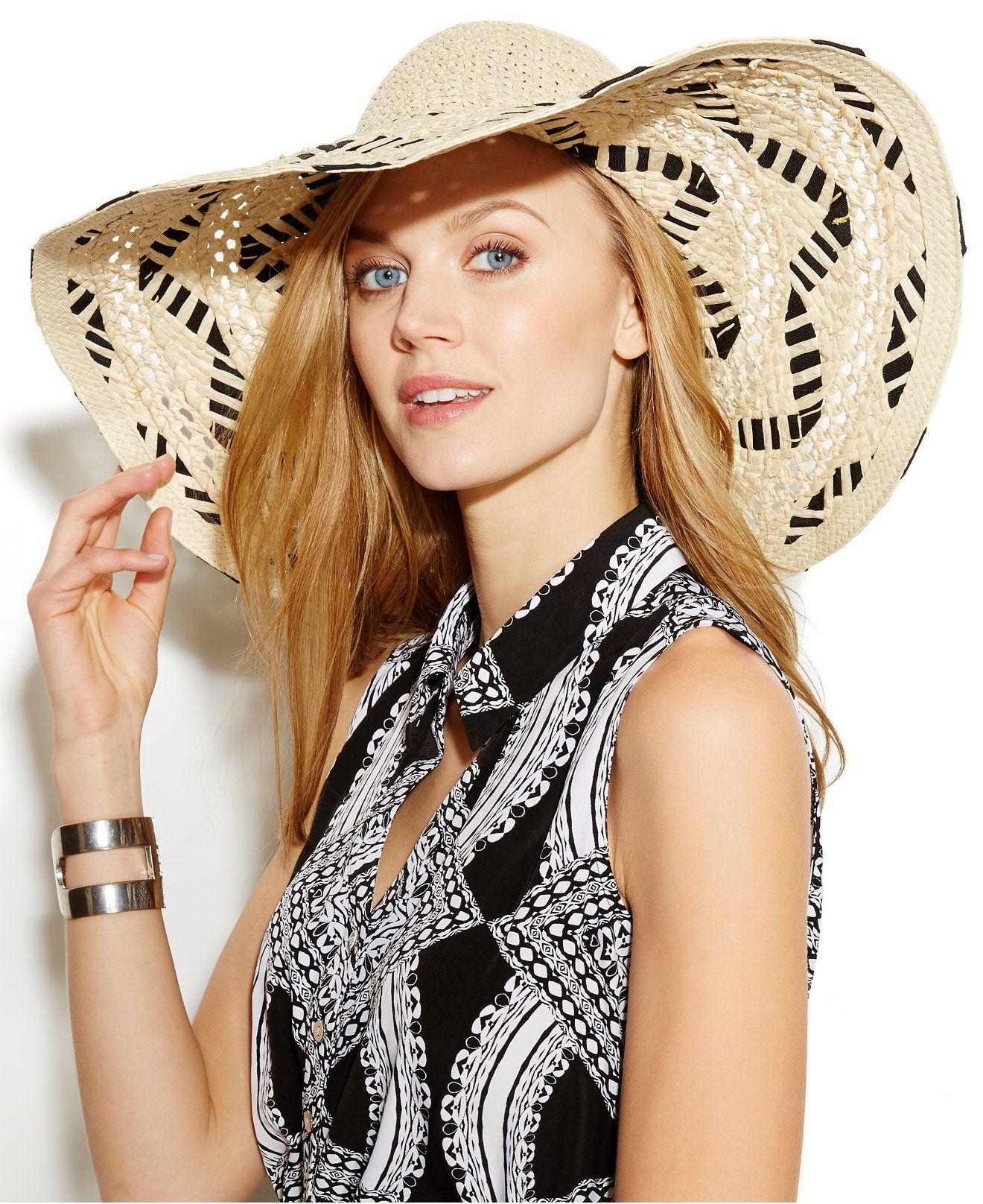 89a337a8835 Nine West Crochet   Laced Ribbon Floppy Hat - Hats