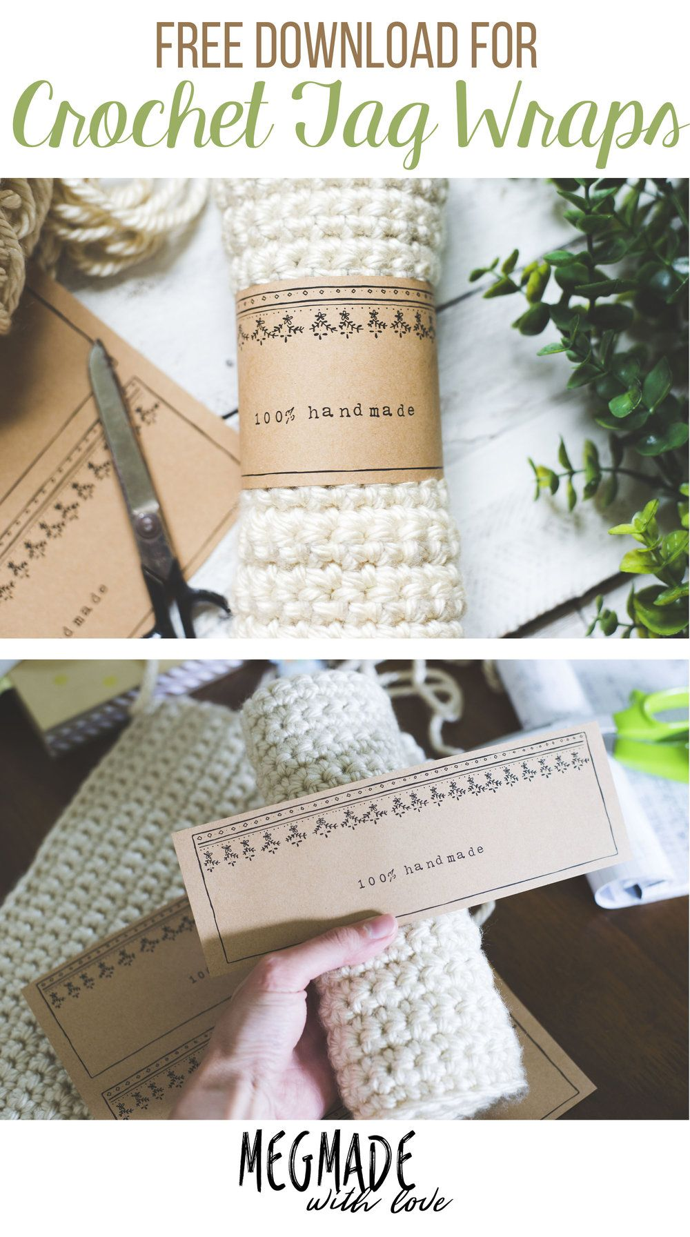 Free Download for Crochet Tag Wraps/ Crochet Labels - Megmade with ...