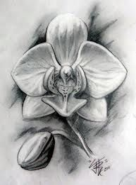 Bildergebnis f r tattoo orchidee tattoos pinterest tattoo orchidee feen tattoo und erstes - Orchideen tattoo vorlage ...