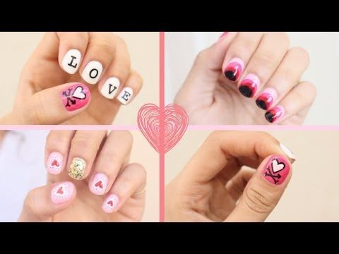 All Kinds Of V Day Nail Art N How Tos Pinterest